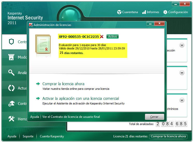 Kaspersky internet secuirty 11.0.2.556 b